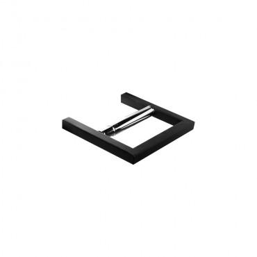 HushLab Bergamo uchwyt na papier toaletowy kolor czarny matowy - 771661_O1