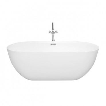 HushLab Bowls Pure wanna wolnostojąca 160x75 biała połysk - 772125_O1
