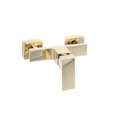 HushLab Piatto Gold Bateria prysznicowa ścienna Złoty błyszczący - 820225_O1