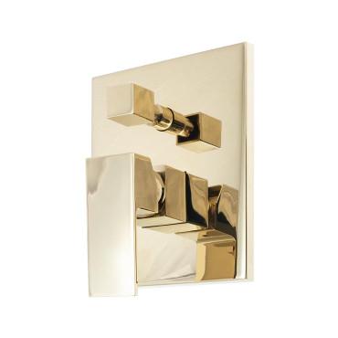 HushLab Piatto Gold Bateria wannowo-prysznicowa podtynkowa Złoty błyszczący - 820226_O1
