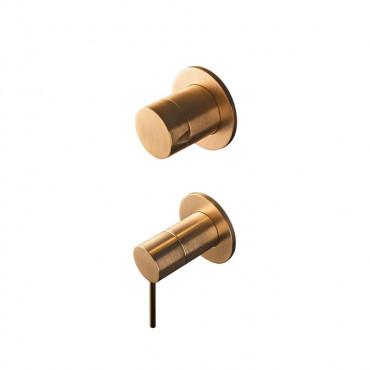 HushLab Siena Brushed Gold Bateria wannowo-prysznicowa podtynkowa Siena 70x154 Złoty szczotkowany - 821980_O1
