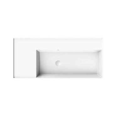 HushLab InLove umywalka wisząca z półką po lewej stronie 46x101 - 771991_O1