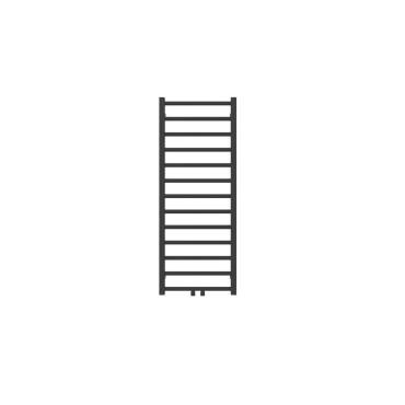 """Hushlab Stratto Metallic Black 500x1020- Grzejnik drabinkowy Stratto 1020/500mm kolor Metallic Black podł. 4x1/2"""" od dołu - 779239_O1"""